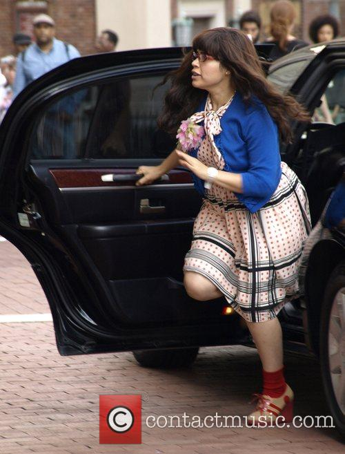 America Ferrera on the set of 'Ugly Betty'...