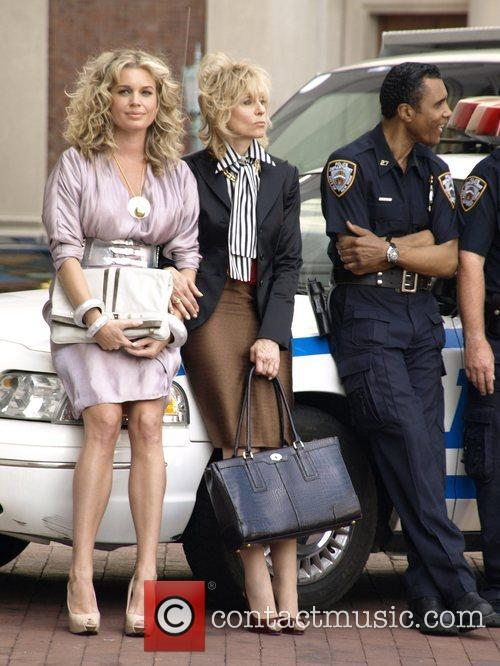 Rebecca Romijn and Judith Light on the set...