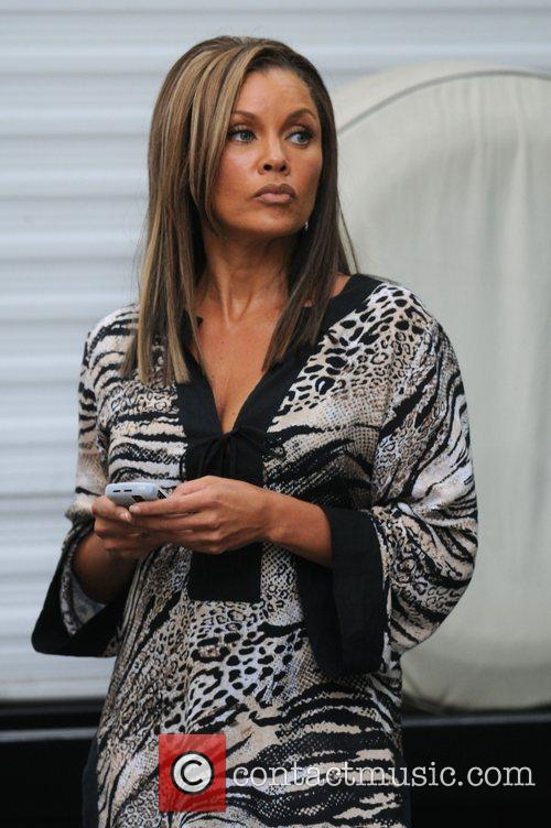 Vanessa Williams on the set of 'Ugly Betty'...