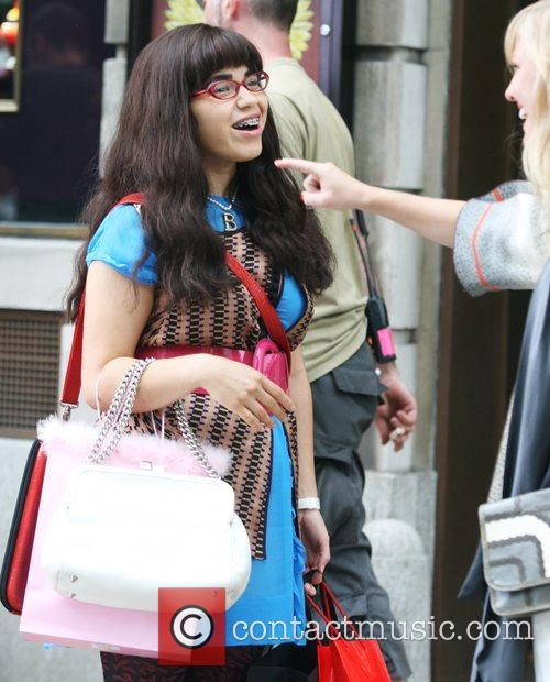 On the set of 'Ugly Betty' filming in...