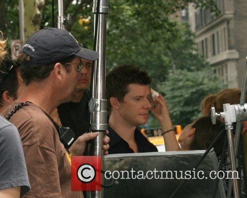 Eric Mabius on the set of 'Ugly Betty'...