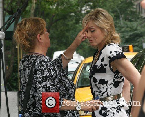 Judith Light on the set of 'Ugly Betty'...
