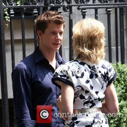 Eric Mabius and Judith Light on the set...