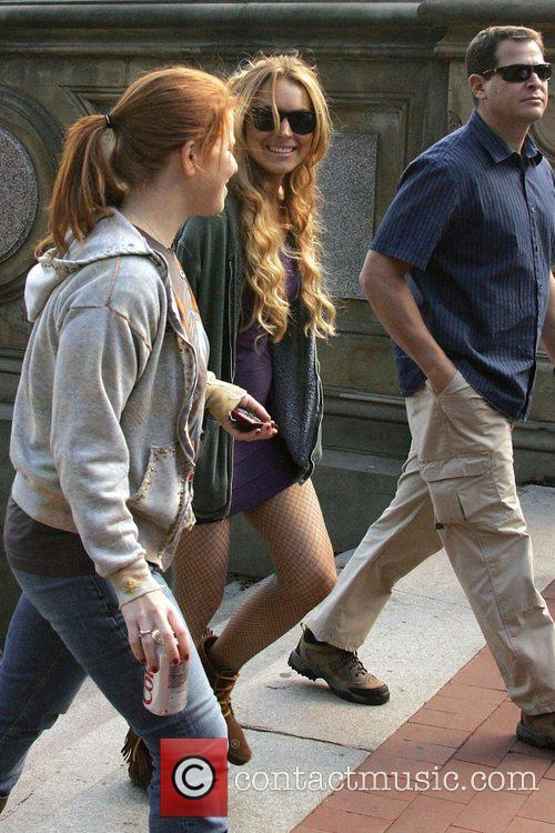 Lindsay Lohan on the set of 'Ugly Betty'...