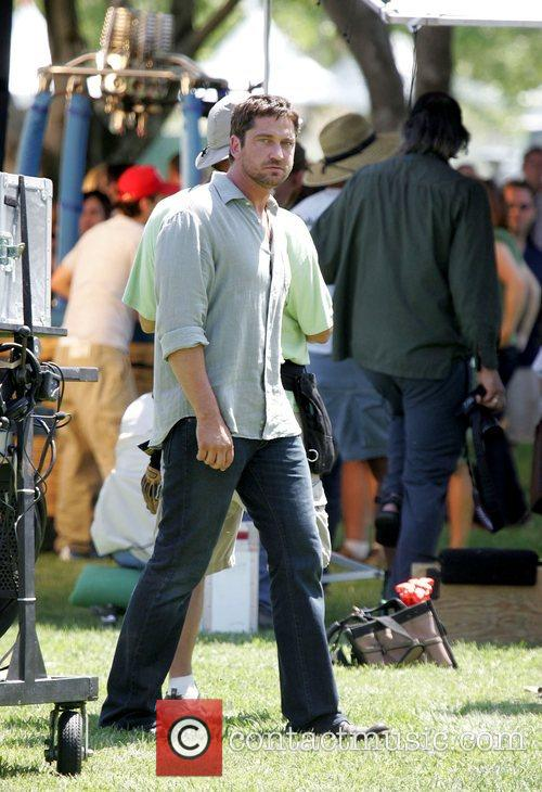 Gerard Butler on the set of his upcoming...