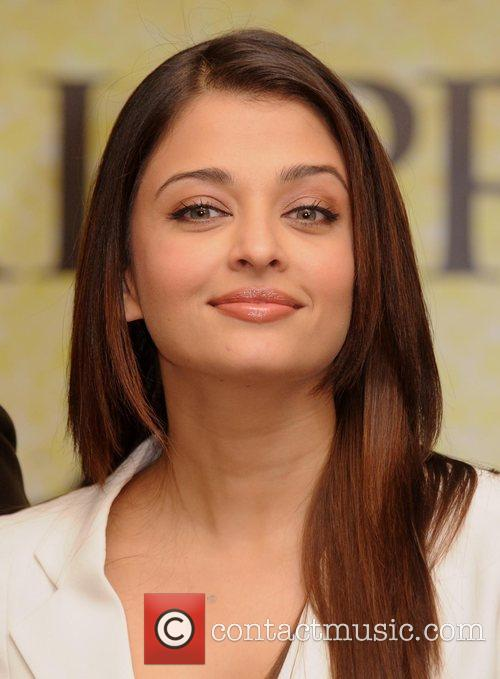 Aishwarya Rai Bachchan and at a press conference...