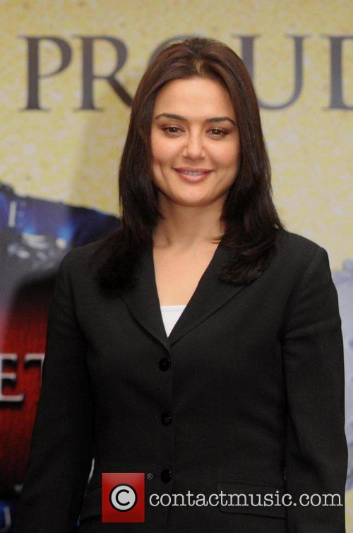 Preity Zinta and at a press conference for...