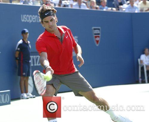 Roger Federer 2008 US Tennis Open - Day...