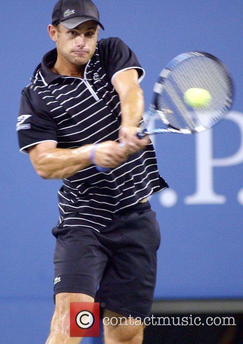 Andy Roddick 2008 US Open - Day 11...