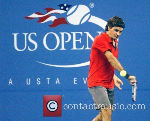 Roger Federer 2008 US Open - Day 9...