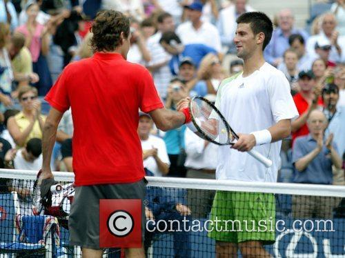 Roger Federer and Novak Djokovic 2008 US Open...