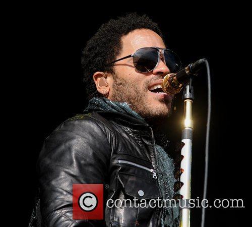 Lenny Kravitz performs at the V Festival at...