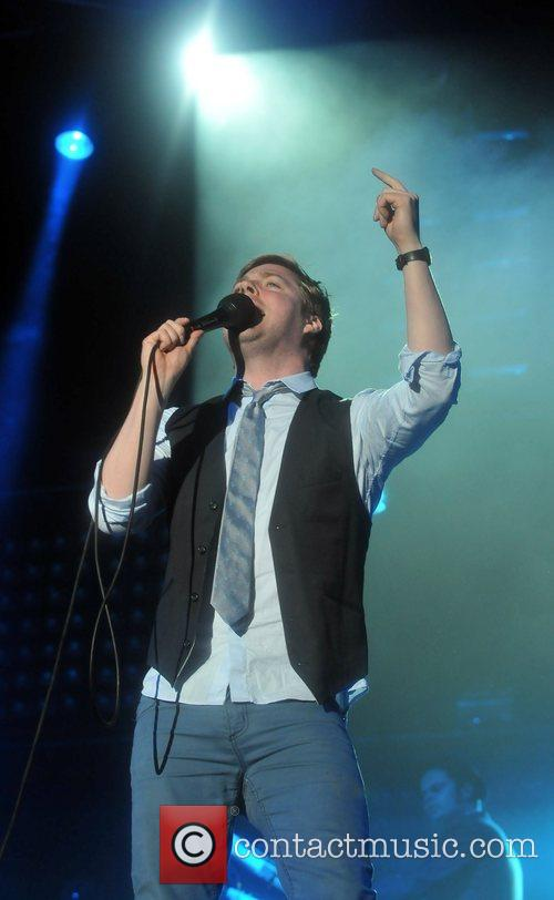 The Kaiser Chiefs performing at V Festival held...