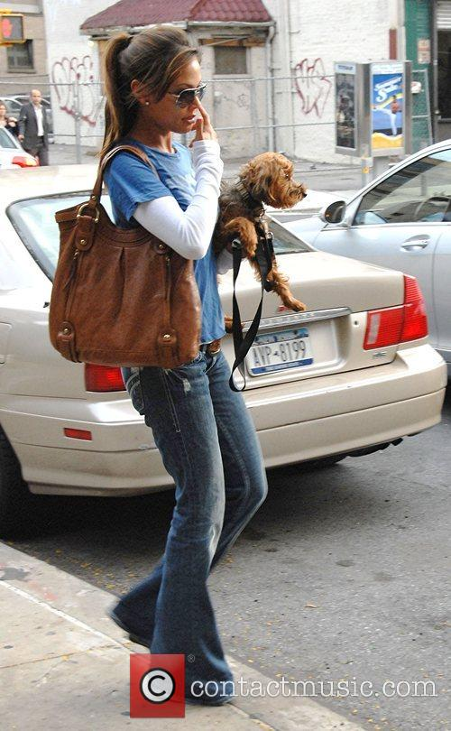Vanessa Minnillo out for a walk with her...