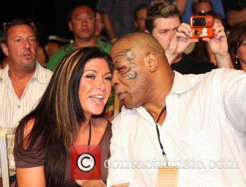 Mike Tyson and guest at the Las Vegas...