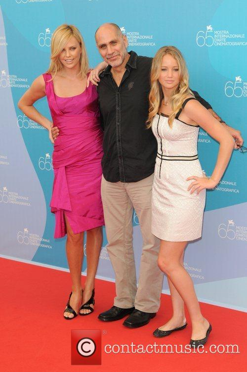 Charlize Theron, Guilelermo Arriga and Jennifer Lawrence The...