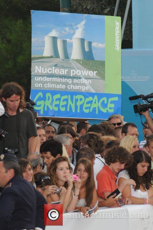 Greenpeace protest  The 2008 Venice Film Festival...