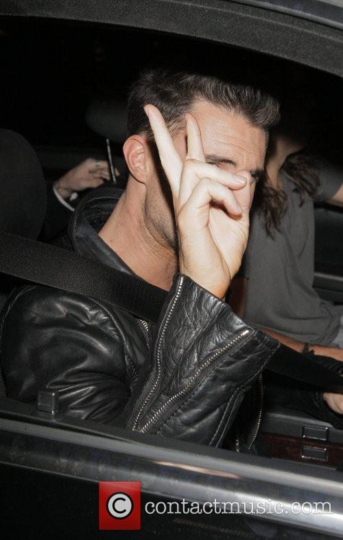Adam Levine outside Villa Lounge in West Hollywood...