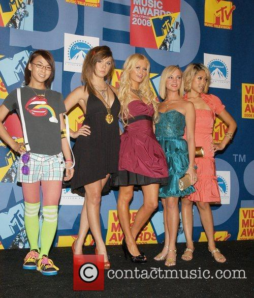 Paris Hilton and the cast of BFF 2008...