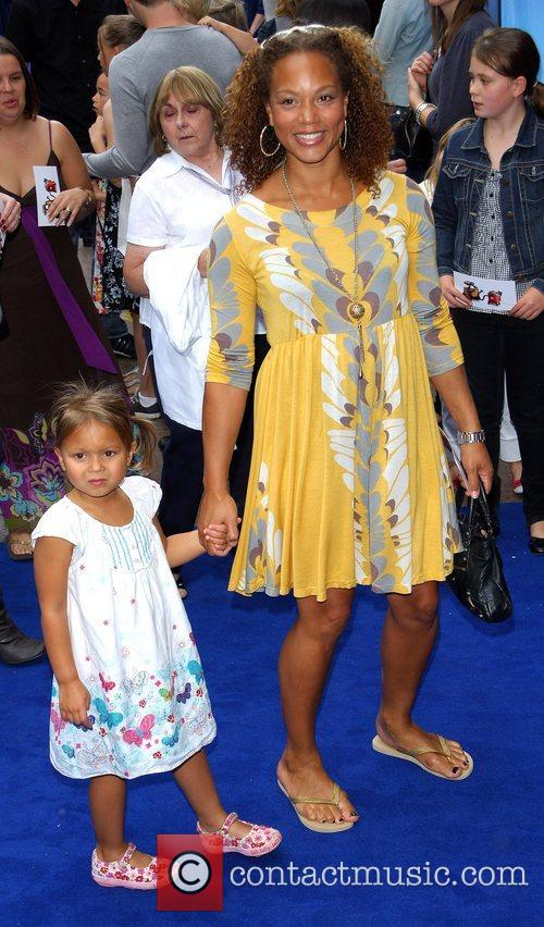 Angela Griffin and her daughter Tallulah WALL.E premiere...