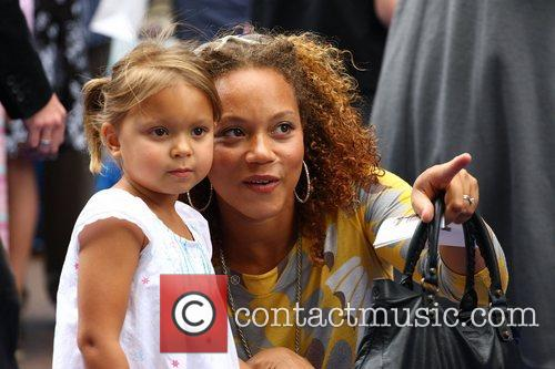 Angela Griffin and daughter Tallulah WALL.E premiere held...