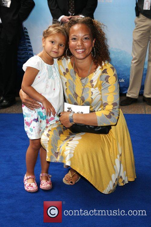 Angela Griffin and daughter Tallulah Jae WALL.E premiere...