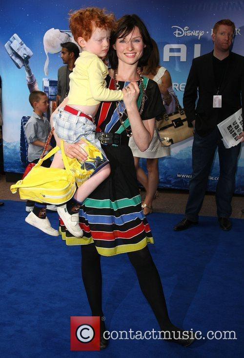 Sophie Ellis with her son Sonny WALL.E premiere...