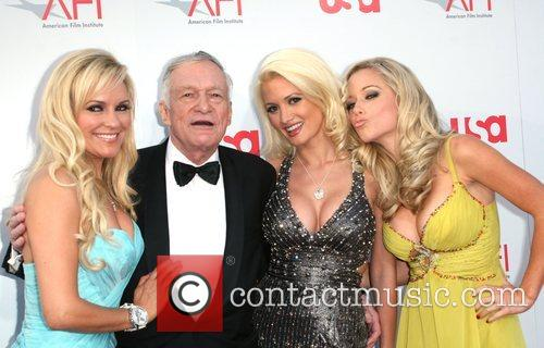 Bridget Marquardt, Afi, Holly Madison and Hugh Hefner 1