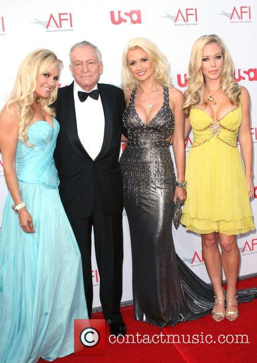Bridget Marquardt, Afi, Holly Madison and Hugh Hefner 2