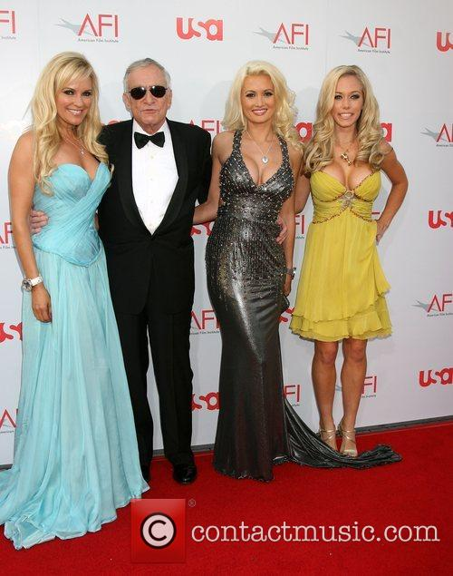 Bridget Marquardt, Holly Madison and Hugh Hefner 5