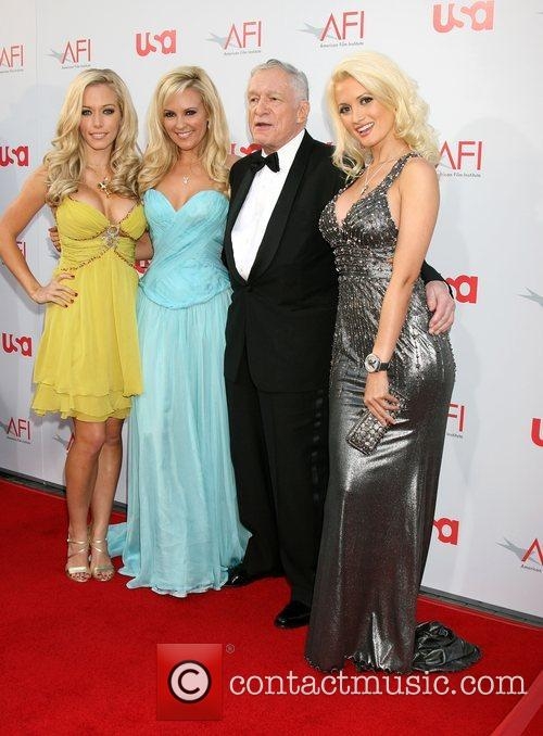 Kendra Wilkinson, Bridget Marquardt and Hugh Hefner 6