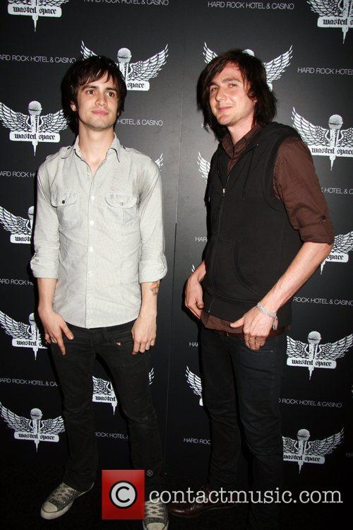 Brandon Urie and Ryan Ross of Panic! At...