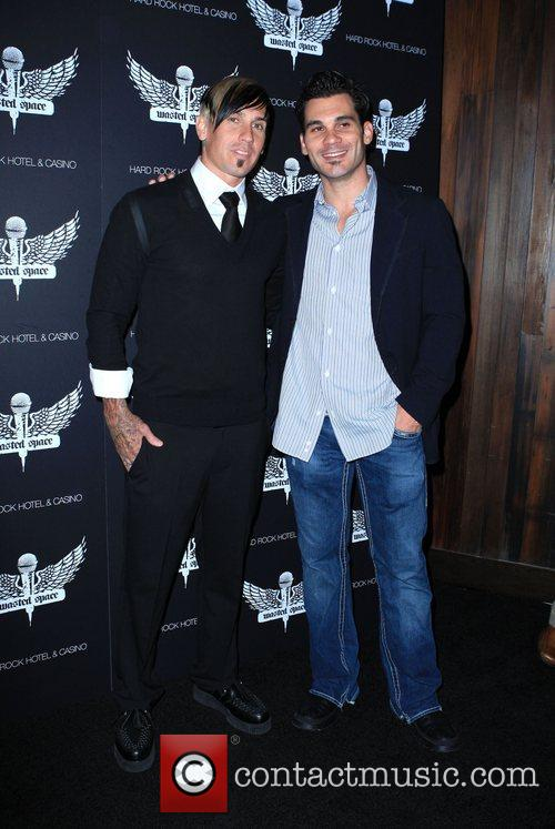 Carey Hart and guest Grand Opening of 'Wasted...