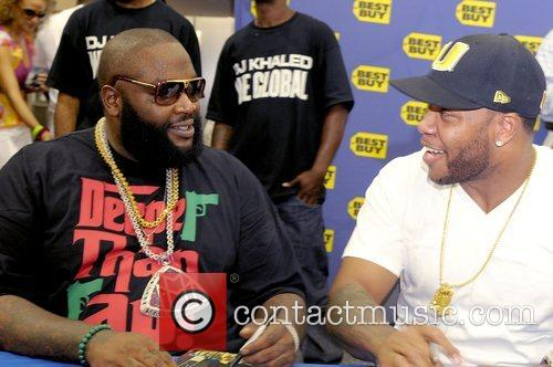 Rick Ross and FLo Rida DJ Khaled signs...
