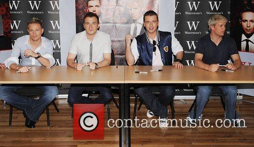 Westlife booksigning for their new book 'Westlife- Our...