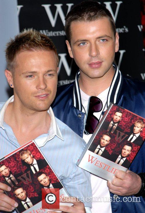 Nicky Byrne and Mark Feehily of Westlife at...