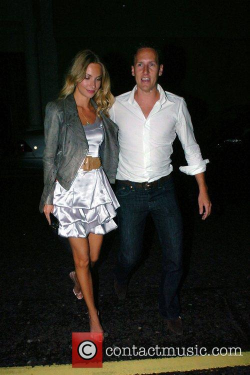 Brendan Cole and girlfriend arriving at Whiskey Mist...