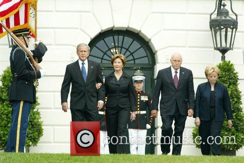 George Bush, Laura Bush and White House 2