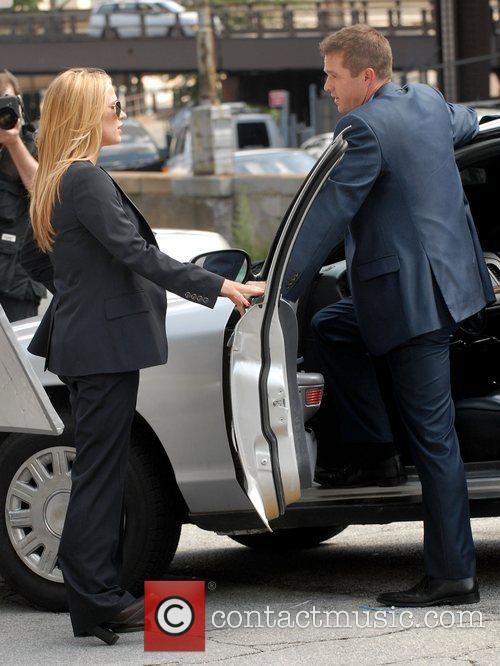 Eric Close and Poppy Montgomery on the set...