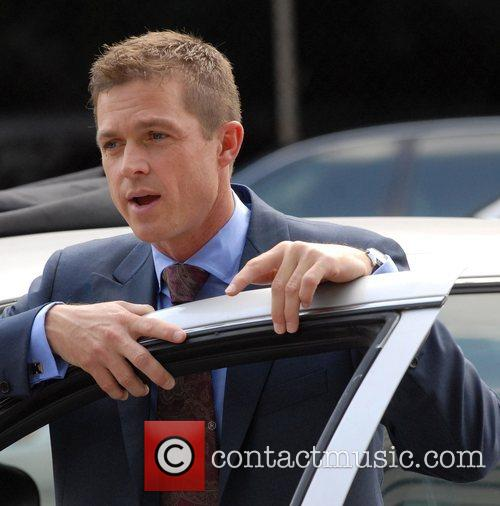 Eric Close on the set for 'Without A...