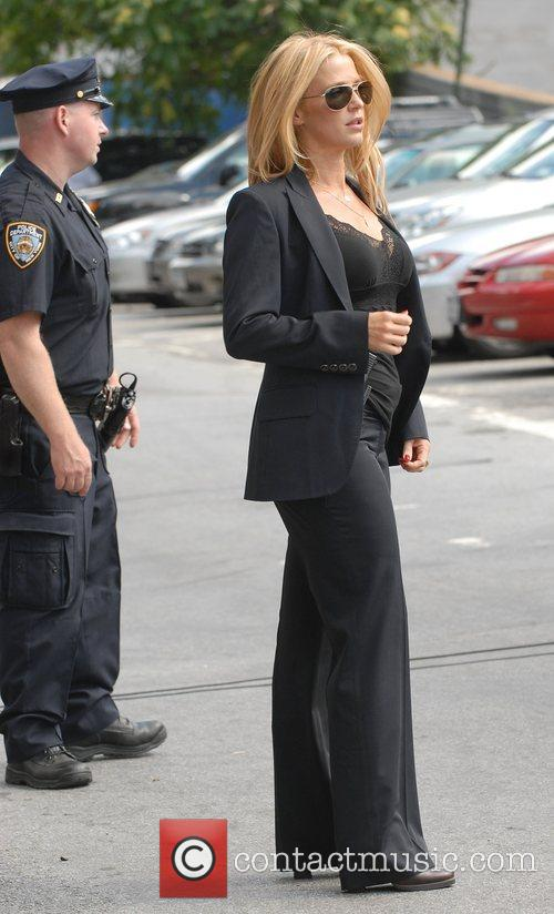 Poppy Montgomery on the set for 'Without A...
