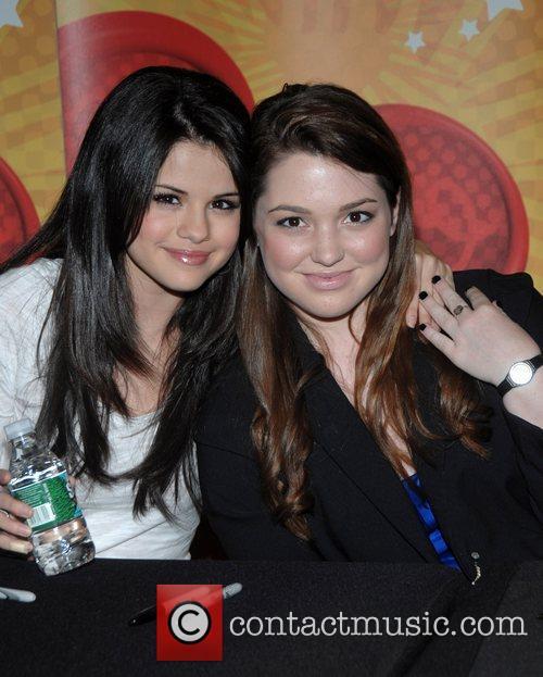 Selena Gomez and Jennifer Stone The cast of...