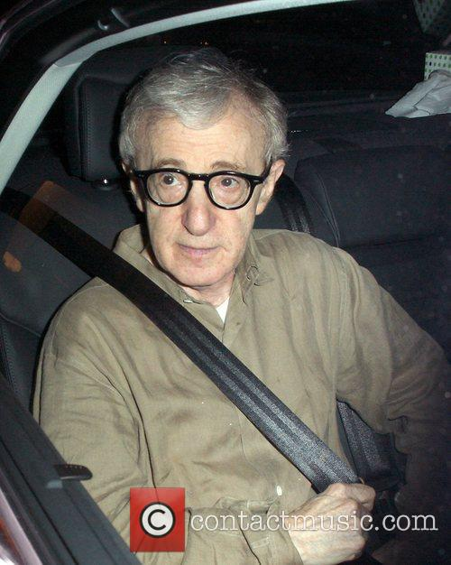 Woody Allen leaving Madeo restaurant Los Angeles, California