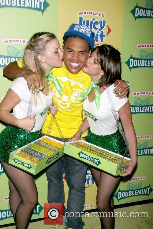 Chris Brown and Wrigley's Girls 4