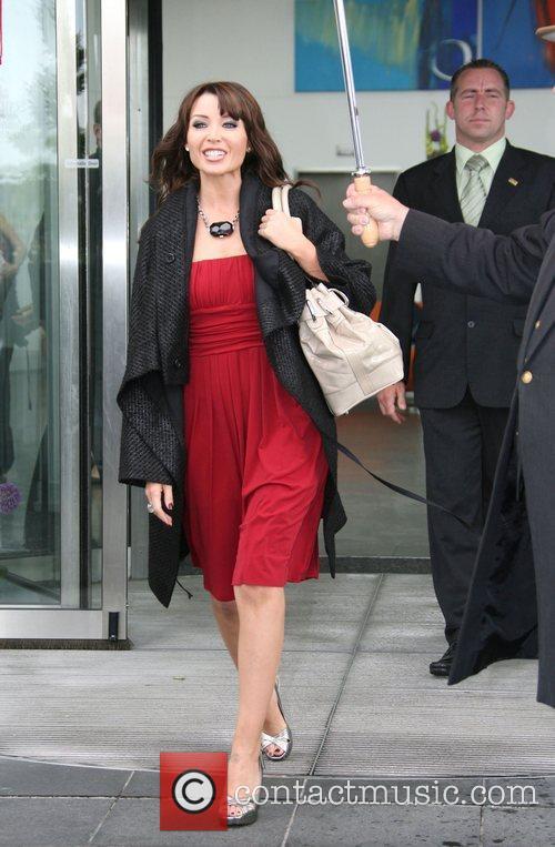 Dannii Minogue X Factor judges leave their hotel...