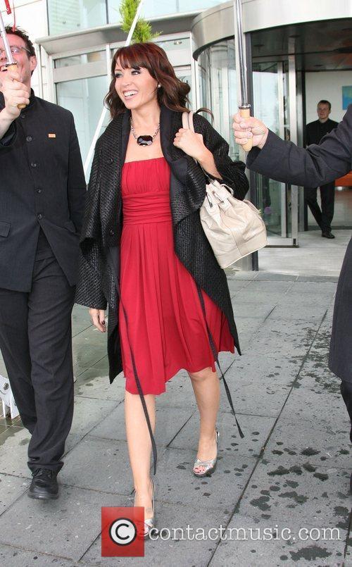 Danni Minogue X Factor judges leave their hotel...