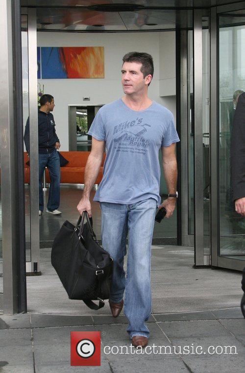 Simon Cowell X Factor judges leave their hotel...