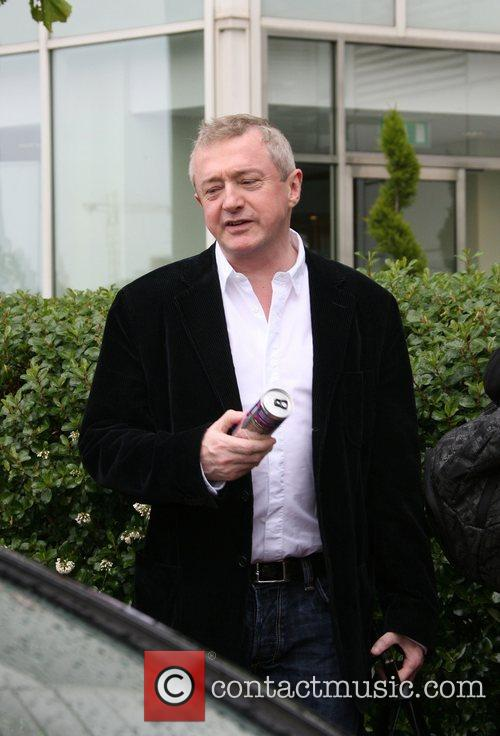 Louis Walsh X Factor judges leave their hotel...