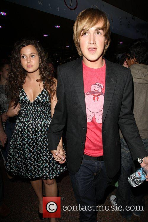 Tom Fletcher of McFly with his girlfriend Giovanna...