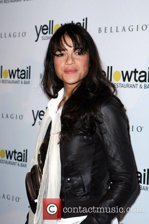 Michelle Rodriguez Grand opening celebration for Yellowtail Sushi...